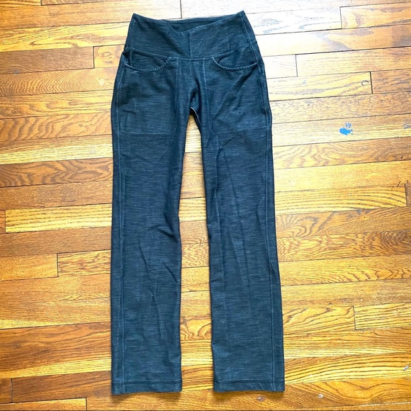 Lululemon straight leg exposed seam yoga pants